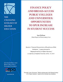 Finance Policy and Broad-Access Public Colleges and Universities: Opportunities to Spur Increases in Student Success