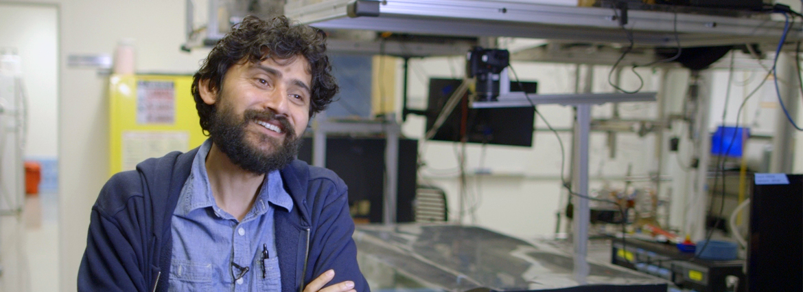 Manu Prakash in his lab